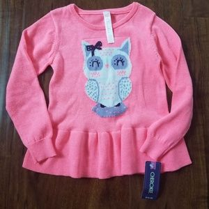 New with tags toddler girls 4T sweater